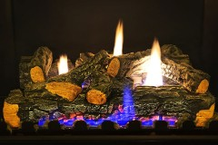 a gas fireplace log